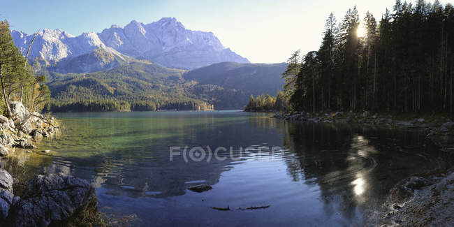 Германия, Бавария, Озеро Эйбзе — стоковое фото