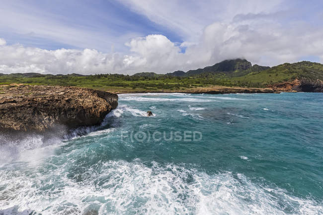 USA, hawaii, kauai, kamala point, kawailoa bay — Stockfoto