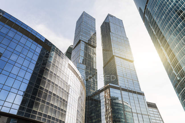 Russia, Moscow, Modern skyscrapers in the financial district — Stock Photo