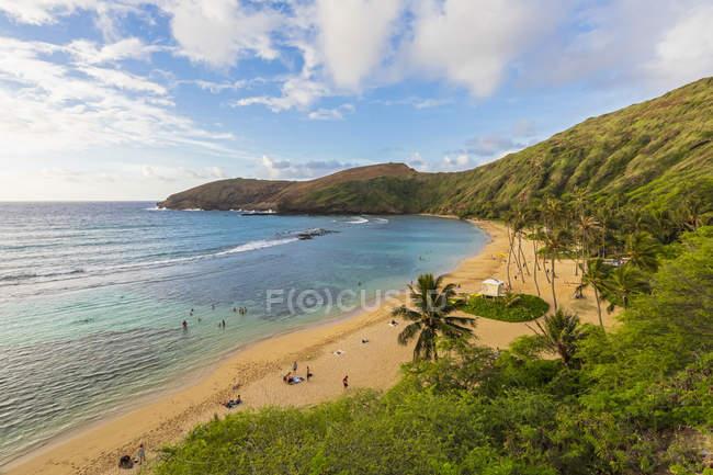 Stati Uniti, Hawaii, Oahu, Hanauma Bay, cratere vulcanico morto — Foto stock