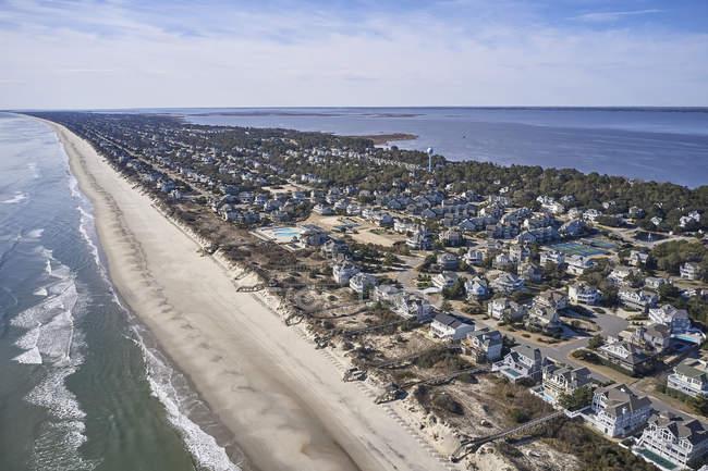 USA, North Carolina, Corolla, Atlantik, Sand der äußeren Ufer, Pamlico Sound — Stockfoto
