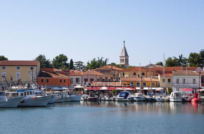 Croatia, Istria, Novigrad, harbour — Stock Photo