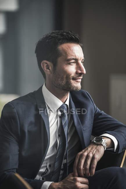 Портрет успешного бизнесмена — стоковое фото