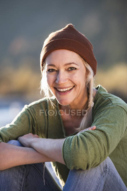 Portrait de femme mature souriante — Photo de stock