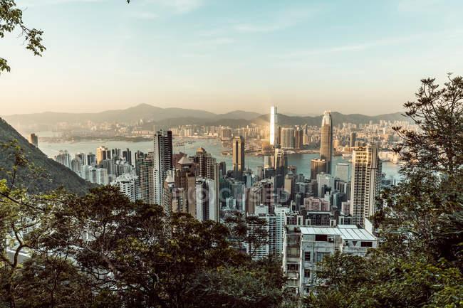 Hong Kong, Causeway Bay, paisaje urbano - foto de stock