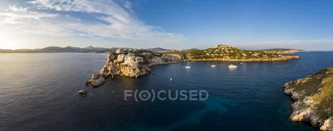 Spagna, Maiorca, Regione Calvia, Veduta aerea delle isole Malgrats e Santa Ponca — Foto stock