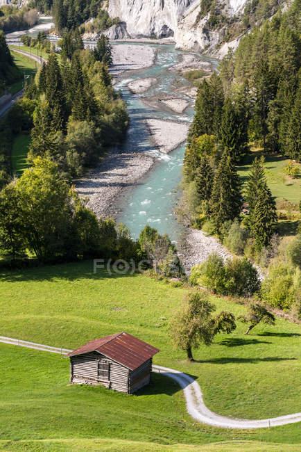 Switzerland, Grisons, Ruinaulta, Rhine canyon — стоковое фото