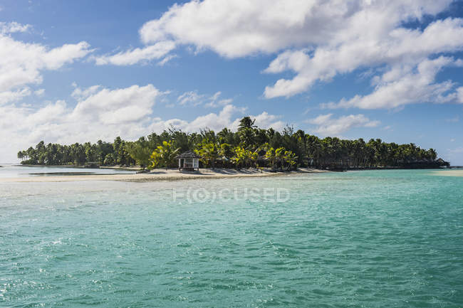 Islas Cook, Rarotonga, laguna de Aitutaki - foto de stock