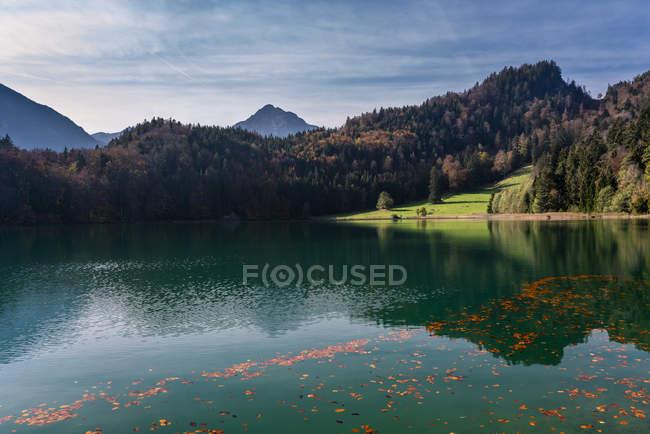 Germania, Baviera, East Allgaeu, Fuessen, Alatsee in autunno — Foto stock