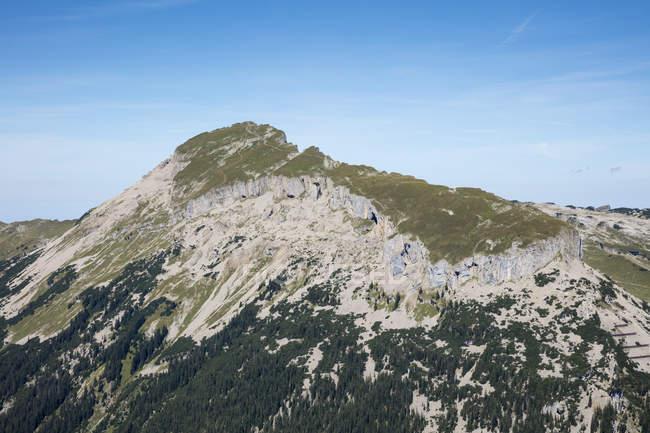 Австрія, Форарльберг, Алгайські Альпи, Kleinwalser Valley, Гошер Ксифен, вид з Уолмендінгерхорн — стокове фото