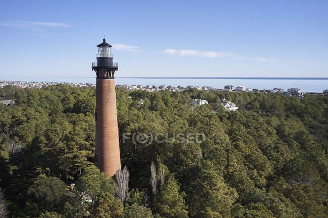 USA, North Carolina, Corolla, äußere Ufer, Atlantik, Currituck Leuchtturm — Stockfoto