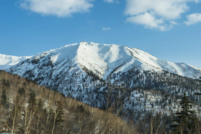 Хоккайдо, засніжені гори в національному парку Дайтосуцан — стокове фото