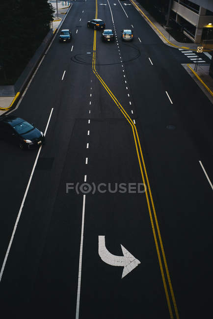 USA, Virginia, Fairfax county, Tysons Corner, elevated view on a road — Stock Photo