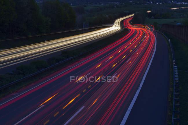 Німеччина, задні ліхтарі на шосе — стокове фото