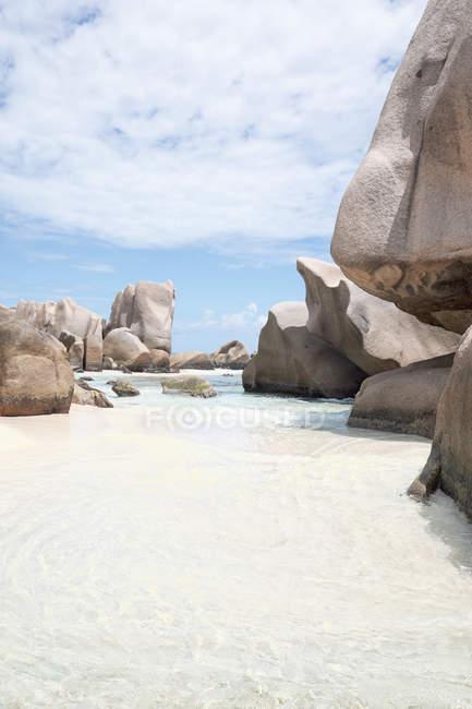 Сейшельські острови, Ла Діг, пляж Петіт Анс. — стокове фото