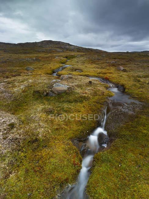 Norvège, Longyearbyen, petit ruisseau — Photo de stock