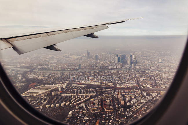 Brazil, Sao Paulo, Aerial view from airplane window — Stock Photo