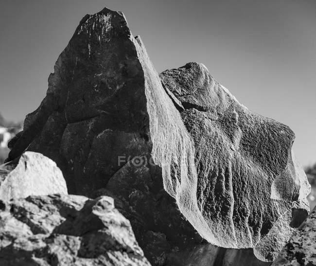 África do Sul, Cidade do Cabo, Formação de rochas, preto e branco — Fotografia de Stock