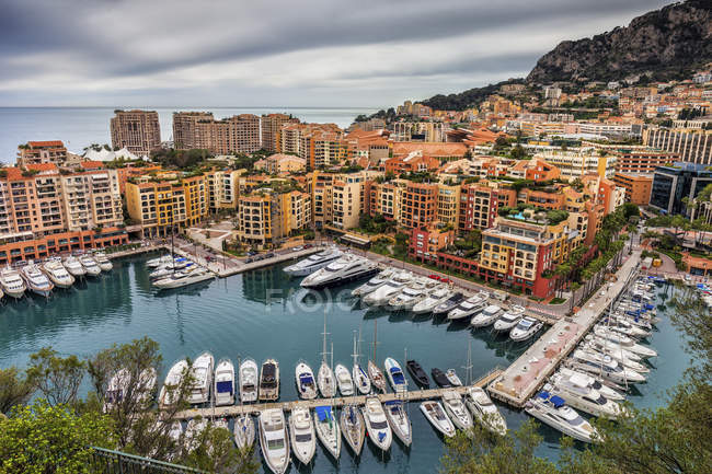 Principality of Monaco, Monaco, Monte Carlo, Fontvieille, Port de Fontvieille — Stock Photo