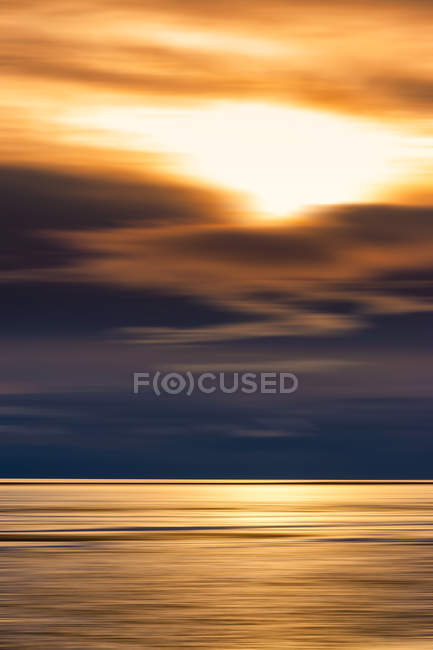 Great Britain, Scotland, Solway Firth, mud flats, sunset, abstract — Stock Photo