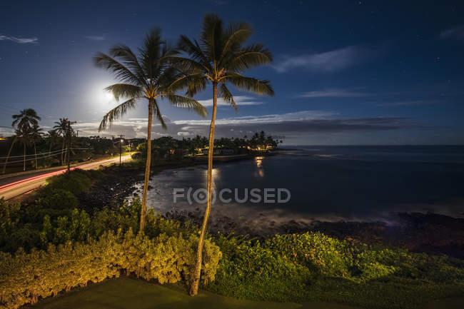 Estados Unidos Pazific Ocean, Hawaii, Kauai, Poipu, Hoai Bay - foto de stock