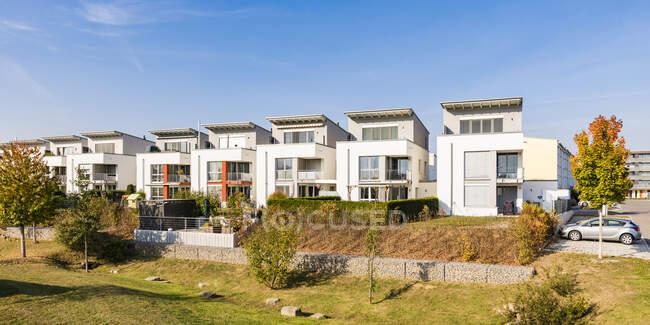 Germania, Baden-Wuerttemberg, Sindelfingen, Allmendaecker, area di sviluppo, moderna casa plurifamiliare — Foto stock
