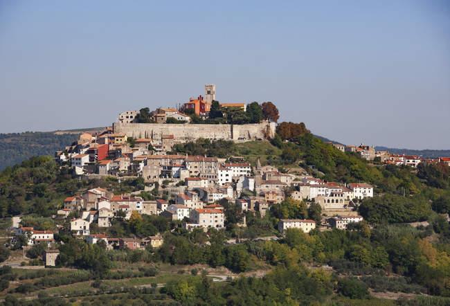 Croatia, Istria, Motovun, Old town — стоковое фото