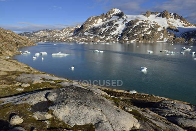 Groenlândia, East Greenland, Sammileq Fjord — Fotografia de Stock
