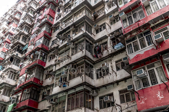 Hong Kong, Quarry Bay, bloque de apartamentos - foto de stock