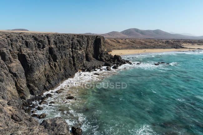 Іспанія, Канарські острови, Фуертевентура, Берегова лінія — стокове фото