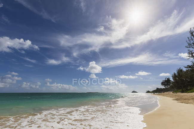 Stati Uniti, Hawaii, Oahu, Kailua Bay, Kalama Beach — Foto stock