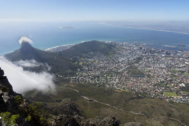 África, África do Sul, cabo ocidental, cidade do cabo, cabeça de leão, colina do sinal e Ilha Robben — Fotografia de Stock