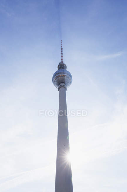 Germany, Berlin, television tower at backlight — Stock Photo