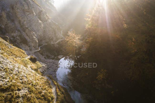 Austria, Lower Austria, Oetschergraeben in the morning sun — Stock Photo
