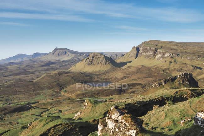 Royaume-Uni, Écosse, Île de Skye, Vue de Quiraing à Trotternish Ridge — Photo de stock