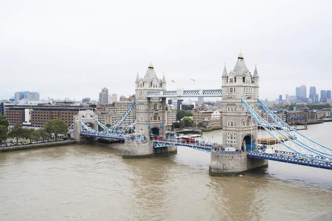 Reino Unido, Londres, Vista aérea da ponte da torre — Fotografia de Stock