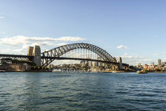 Australia, New South Wales, Sydney, landscape with the Sydney bridge — Stock Photo