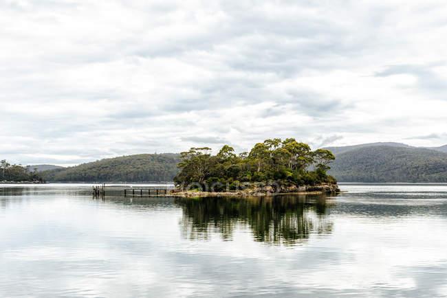 Austrália, Tasmânia, vista a ilha dos mortos, Port Arthur — Fotografia de Stock