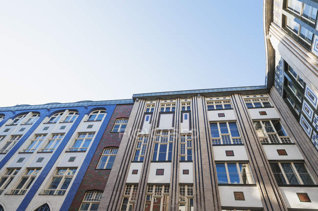 Germany, Berlin, facades of a courtyard of Hackesche Hoefe — Stock Photo