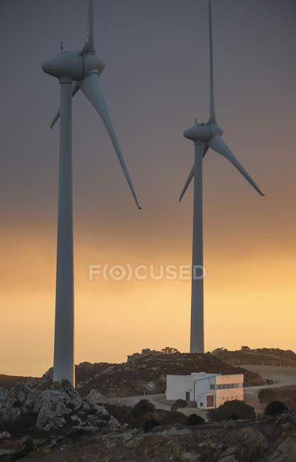 Espagne, Andalousie, Tarifa, deux roues au crépuscule — Photo de stock