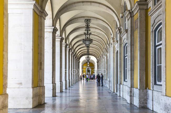 Europa, Portogallo, Lisbona, veduta della Praca do Comercio — Foto stock