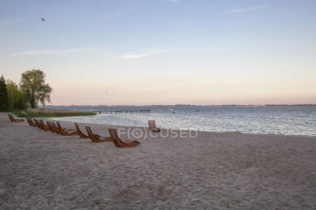 Germania, Ruegen, Dranske, spiaggia la sera — Foto stock