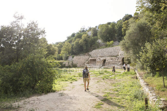 Itália, Sicília, Província de Ragusa, Parco Archeologico Forza, Cava d 'Ispica — Fotografia de Stock