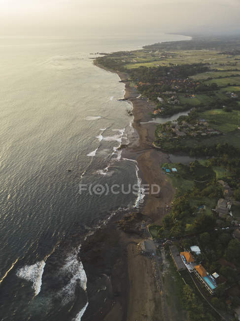 Indonesia, Bali, Veduta aerea di Echo Beach — Foto stock