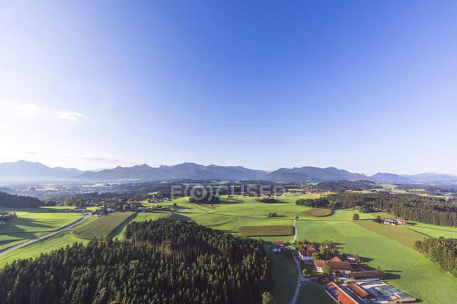 Allemagne, Bavière, Chiemgau, Vue aérienne des Alpes — Photo de stock