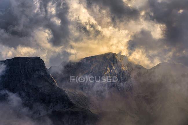 Італія, Венето, Доломіти, Альта Віа Бепі Зак, захід сонця — стокове фото