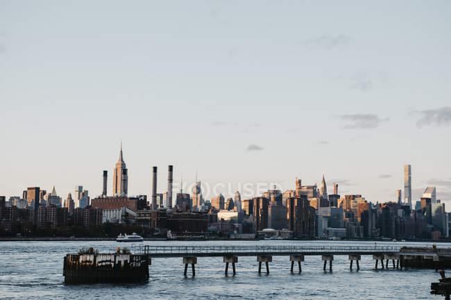 Stati Uniti, New York, New York, Brooklyn, Skyline — Foto stock