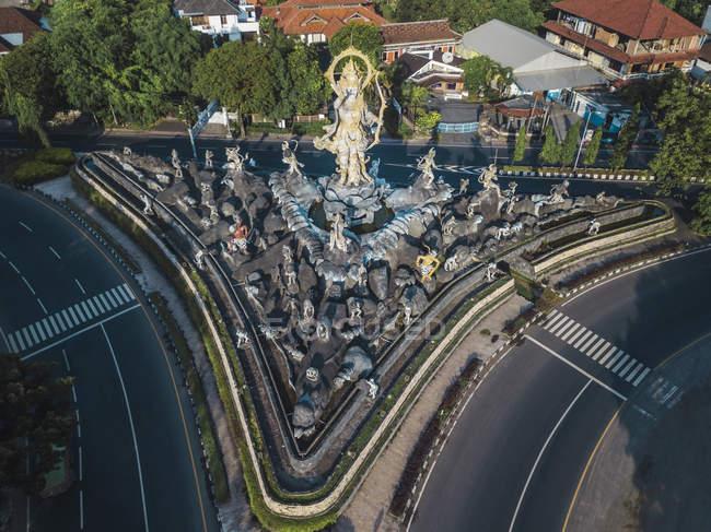 Indonesia, Bali, Sanur, Aerial view of Patung Titi Banda statue — Stock Photo