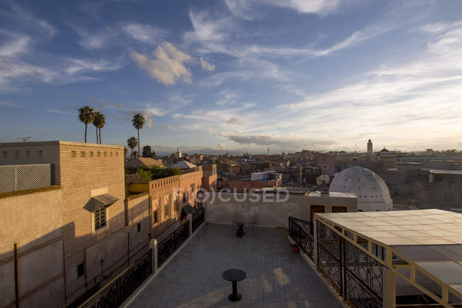 Morocco, Marrakesh, Old town in the evening — Stock Photo