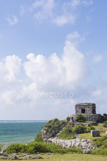 Мексика, Юкатан, Quintana Роо, Тулум, Майя руїни на узбережжі — стокове фото